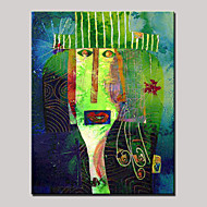 misteriose espressioni facciali dipinte a mano astratta moderna della pittura ad olio su tela con telaio pronto da appendere