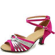 Non Přizpůsobitelné - Dámské - Taneční boty - Latina - Samet - Kubánské - Černá / Modrá / Ostatní