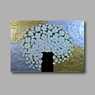 """klar til å henge strukket håndmalte oljemaleri 36 """"x24"""" på lerret veggen kunst abstrakte tungoljer hvit blomst"""