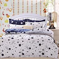 Meteor Bedsheet Pillowcases Duvet Cover(White)