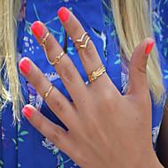 Žene Midi prstenje,Jewelry Zlatna Prilagodljivo Party / Dnevno / Kauzalni Legura 1set,Prilagodljive
