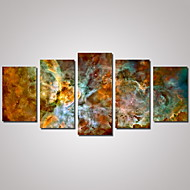 Canvas Set Landschap Abstracte landschappen Traditioneel,Vijf panelen Horizontaal Print Art Muurdecoratie For Huisdecoratie