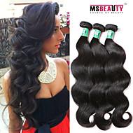 3 PC / Los 8-30inches brasilianische reine Haarkörperwelle 100% unverarbeitetes brasilianisches Menschenhaar Webart Bundles