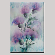 Hand-Painted Abstract Landscape Modern Blooming Flowers Oil Painting On Canvas Ready To Hang One Panel 80x120cm