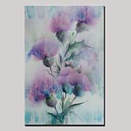 Ručno oslikana Sažetak / Cvjetni / BotaničkiModerna Jedna ploha Platno Hang oslikana uljanim bojama For Početna Dekoracija