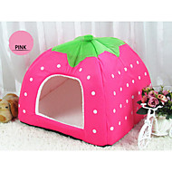 Cat / Dog Bed Pet House Strawberry Style Portable / Leopard / Soft Fabric Red / Blue / Pink / Purple