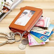 נשים עור פרה שימוש מקצועי מחזיק כרטיסים / מחזיק מפתחות / ארנק למטבעות כחול / זהב / חום / שחור / אדום כהה