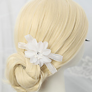 Women's / Flower Girl's Rhinestone / Alloy / Chiffon Headpiece-Wedding / Special Occasion Hair Combs 1 Piece White Round