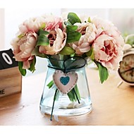 5 Branch/Bouquet European Style Countryside Peony Bouquet