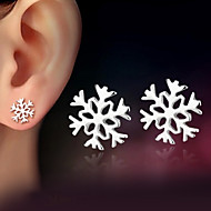 Női Beszúrós fülbevalók karácsonyi Klasszikus jelmez ékszerek Ezüst Ékszerek Kompatibilitás Esküvő Parti Napi
