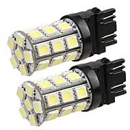 2* T20 3157 4057 Car Tail Backup Turn Signal Bulb 5050SMD Pure White 27 LED Light 12V