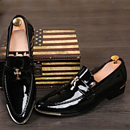Men's Shoes Pointed Patent Leather Fashion Shoes Wedding / Leisure / Banquet Black Red Yellow