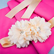 Cetim Casamento / Festa/Noite / Dia a Dia Faixa-Apliques / Florais Feminino 98 ½polegadas(250cm) Apliques / Florais