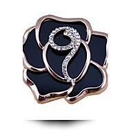 Korean Fashion Exquisite Acrylic Rose Rhinestone Brooch