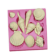 3D Marine Animal Shell Silicone Fondant Cake Molds Chocolate Mould SM-091