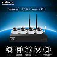 szsinocam®mini fémkupola 4 csatornás 720p 1.0mp wifi NVR készletek, nem kell beállítani, akkor a kép, a mobil telefon p2p.