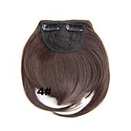 klip mody w syntetycznej hukiem ze średnim brązowym kolorze