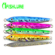 "Afishlure Lead Fish Jig Artificial Hard Bait 30g Metal Bait Jigs 30g 1Ounce 84mm 3-5/16"" inch 4 pcs Sea Fishing"