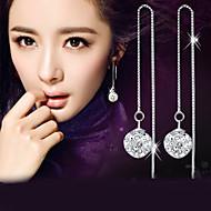 Férfi Női Függők utánzat Diamond Divat elegáns jelmez ékszerek Ezüst Kristály Hamis gyémánt Golyó Ékszerek Kompatibilitás Esküvő Parti