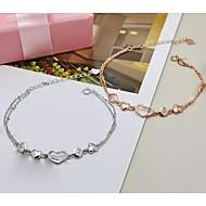 Women's Chain Bracelet Silver / Cubic Zirconia / Sterling Silver Cubic Zirconia