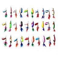 """Löffel 3-13 g / 1/8 / 1/4 / 7/16 Unze , 60-70 mm / 2-3/8"""" / 2-11/16"""" Zoll 30 pcsSeefischerei / Eisfischen / Spinning / Fischen im"""