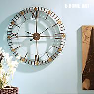 E-HOME®  Round Bronze Metal Wall Clock One Pcs