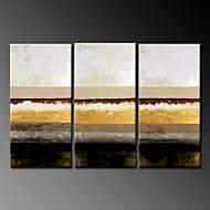 handbemalte abstrakte Landschaft modernes Ölgemälde, Segeltuch drei Platten