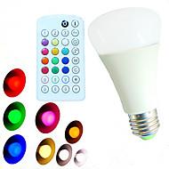 10W E26/E27 LED kulaté žárovky A60(A19) 18 SMD 5730 800 lm Teplá bílá Chladná bílá Přirozená bílá R GB Stmívací Dálkové ovládání Ozdobné