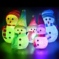 5センチメートルクリスマス結晶雪だるまカラフルな小さな夜の光LEDランプの1個(ランダム設計)
