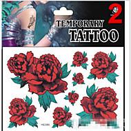 JT - Tatuajes Adhesivos - Non Toxic / Modelo / Brillante / Parte Lumbar / Waterproof / Navidad -Series de Joya / Series de Animal /