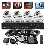 YanSe® 4CH 960H CCTV DVR Kit IR Color Dome Camera Security Cameras System 1000TVL 808CF04