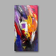"Ready to hang Stretched Hand-Painted Oil Painting Canvas  40""x20"" Wall Art Abstract Purple Yellow Red Orange"