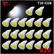 High Power 20 X White COB T10 194 168 LED 12V Instrument Dash Light Bulbs
