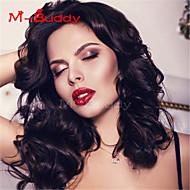 Menschenhaarspitzeperücken für Frauen brasilianisches reines Haar wavyhuman Haarfarbe (# 1 # 1b # 2 # 4)