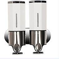 Contemporary square Wall-mounted Bathroom Accessories Stainless Steel Soap Dispenser