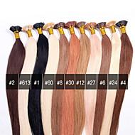 ANNA Brazilian I-TIP Hair Extensions 0.5g/Pcs Bonded Keratin Stick I tip Fusion Straight Human Hair Extensions 50g/lot