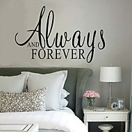 Always And Forever Creative English Words & Quote Wall Decal Decorative Adesivo De Parede Removable Wall Sticker