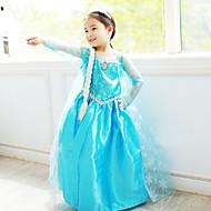 Blue Chiffon Frozen Girls' Elsa Dress With Carp