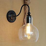 Modern Restaurant Adornment Wall Lamp, Wrought Iron Glass