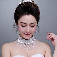 여성용 기념일 / 웨딩 / 약혼 / 선물 목걸이 크리스탈 / 라인석 라인석