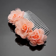 Women's / Flower Girl's Rhinestone / Chiffon Headpiece - Wedding / Special Occasion / Outdoor Hair Combs 1 Piece