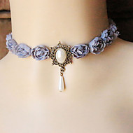 Necklace Choker Necklaces / Gothic Jewelry Jewelry Halloween / Wedding / Party / Daily / Casual Fashion Lace Silver 1pc Gift