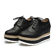 Women's Shoes Synthetic / Patent Leather Platform Creepers Heels Party & Evening / Athletic / Casual Black / White