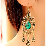 Drop Earrings Gemstone Alloy Vintage Victorian Fashion Drop Green Jewelry 2pcs