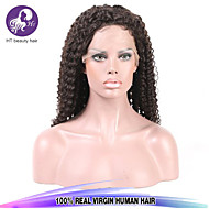 Hot Sale Top Quality 8-28inch Kinky Curly Brazilian Virgin Human Hair Natural Color Full Lace Wig For Women