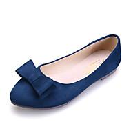 נעלי נשים - שטוחות - סוויד - נוחות / שפיץ / סגור - שחור / כחול / ורוד / בורגונדי - שמלה / קז'ואל - עקב שטוח