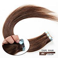20pcs 1.5-2g / pc 16-24inch fita brasileiro do cabelo humano extensão # 4 fita em extensões de cabelo humano 006