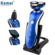 KM-1150 3 In1 Washable Rechargeable Electric Shaver Triple Blade Electric Shaving Razors for Men