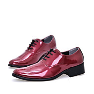 Men's Shoes Wedding / Party & Evening / Casual Oxfords Blue / Red / Orange / Burgundy