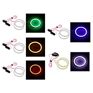 2PCS 80mm/90mm 4W 400LM White/Blue/Red/Green/Pink Light Angel Eyes Light (DC12V)